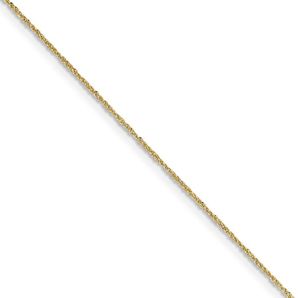 0.7mm, 14k Yellow Gold, Ropa Chain Necklace - The Black Bow Jewelry Co.