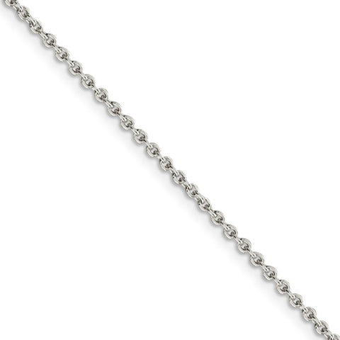 Sterling Silver 2.25mm Twisted Box Chain 24in Necklace