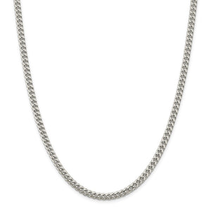 Alternate view of the 5mm, Sterling Silver Solid Domed Curb Chain Necklace by The Black Bow Jewelry Co.