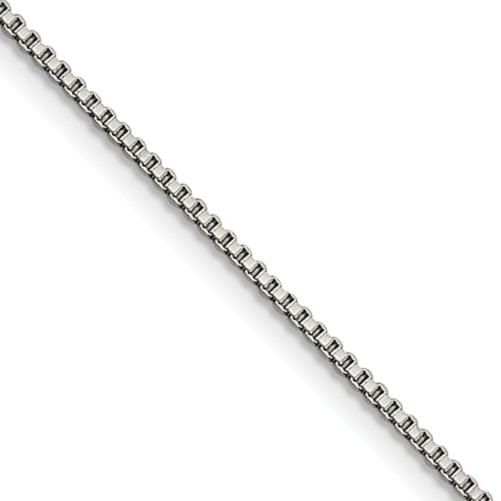 1.5mm Stainless Steel Box Chain Necklace - The Black Bow Jewelry Co.
