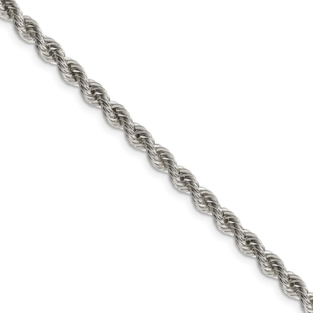 4.25mm Sterling Silver Solid Rope Chain Necklace