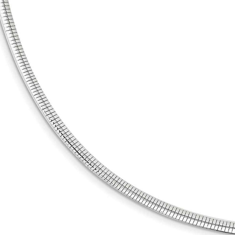 3mm Rhodium Plated Sterling Silver Cubetto Chain Necklace, 17 Inch, Item C9698 by The Black Bow Jewelry Co.