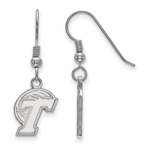 NCAA Sterling Silver Tulane University Small Dangle Earrings - The Black Bow Jewelry Co.