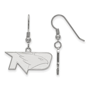 NCAA Sterling Silver Univ. of North Dakota Small Dangle Earrings - The Black Bow Jewelry Co.