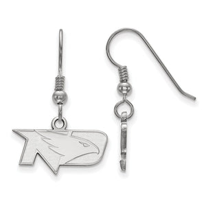 NCAA Sterling Silver Univ. of North Dakota XS Dangle Earrings - The Black Bow Jewelry Co.