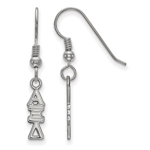 Sterling Silver Small Alpha Xi Delta Dangle Earrings - The Black Bow Jewelry Co.