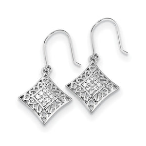 I Love You All Year Long Sterling with Cubic Zirconia Silver Earrings - The Black Bow Jewelry Co.