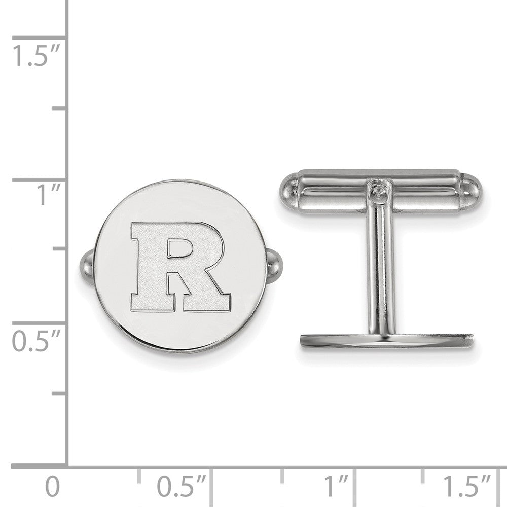Alternate view of the NCAA Sterling Silver Rutgers Cuff Links by The Black Bow Jewelry Co.
