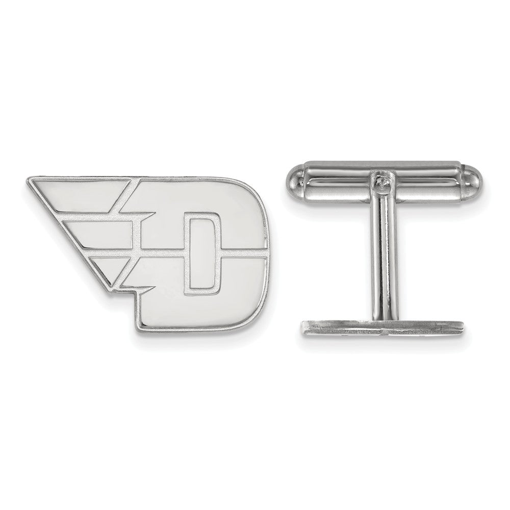 NCAA Sterling Silver University of Dayton Cuff Links, Item M9220 by The Black Bow Jewelry Co.