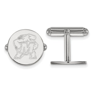 NCAA Sterling Silver Maryland Cuff Links - The Black Bow Jewelry Co.