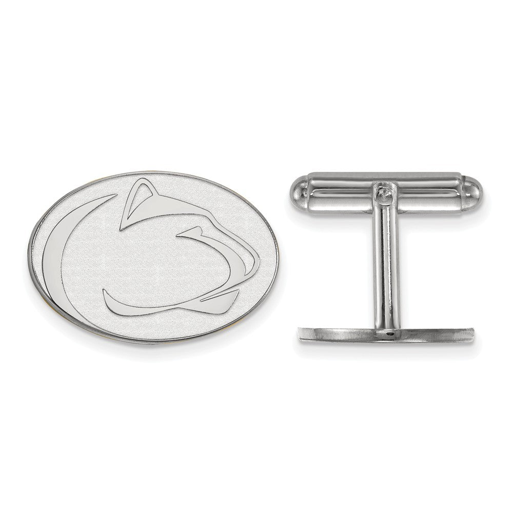 NCAA Sterling Silver Penn State University Cuff Links, Item M9261 by The Black Bow Jewelry Co.