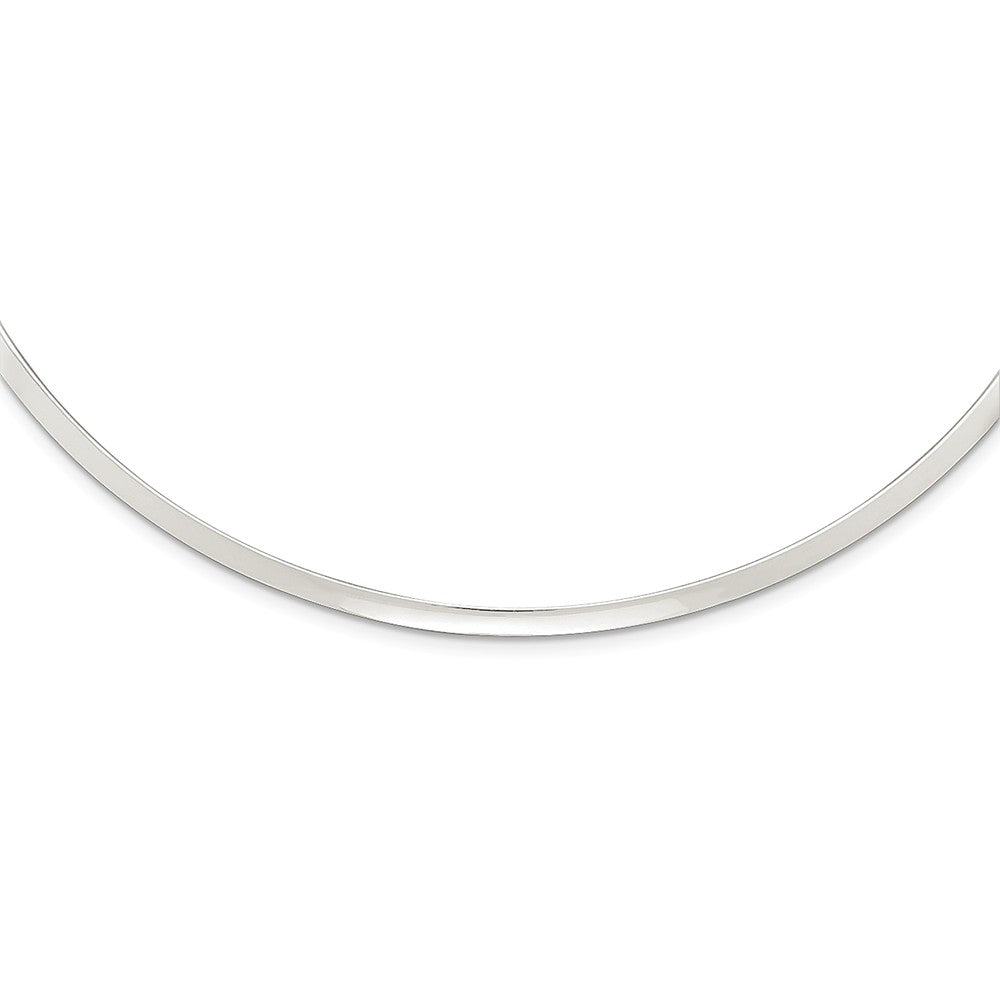 3mm Sterling Silver Polished Slip On Neck Collar, 14 Inch, Item N10906 by The Black Bow Jewelry Co.