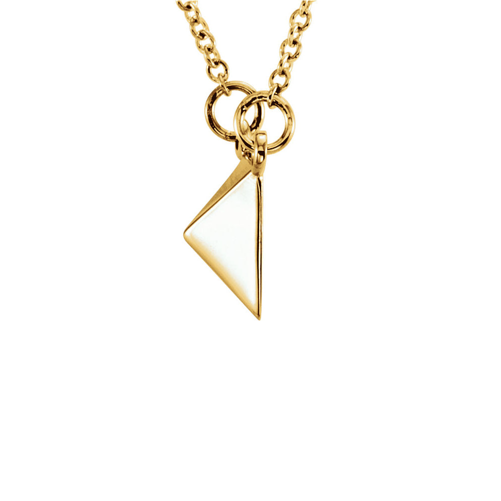 Alternate view of the Polished Pyramid Necklace in 14k Yellow Gold, 16.25 Inch by The Black Bow Jewelry Co.