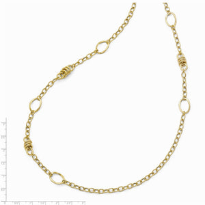 Alternate view of the 14k Yellow Gold Polished Fancy Link Necklace, 32 Inch by The Black Bow Jewelry Co.