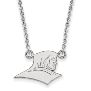 NCAA 10k White Gold Providence College Small Pendant Necklace - The Black Bow Jewelry Co.