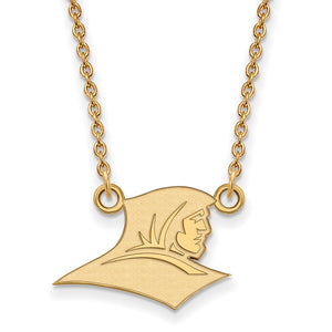 NCAA 10k Yellow Gold Providence College Small Pendant Necklace - The Black Bow Jewelry Co.
