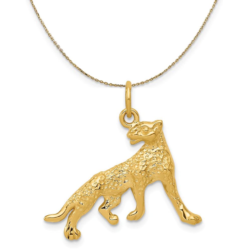 20mm 14K Yellow Gold Number One 1 Polished Charm Pendant