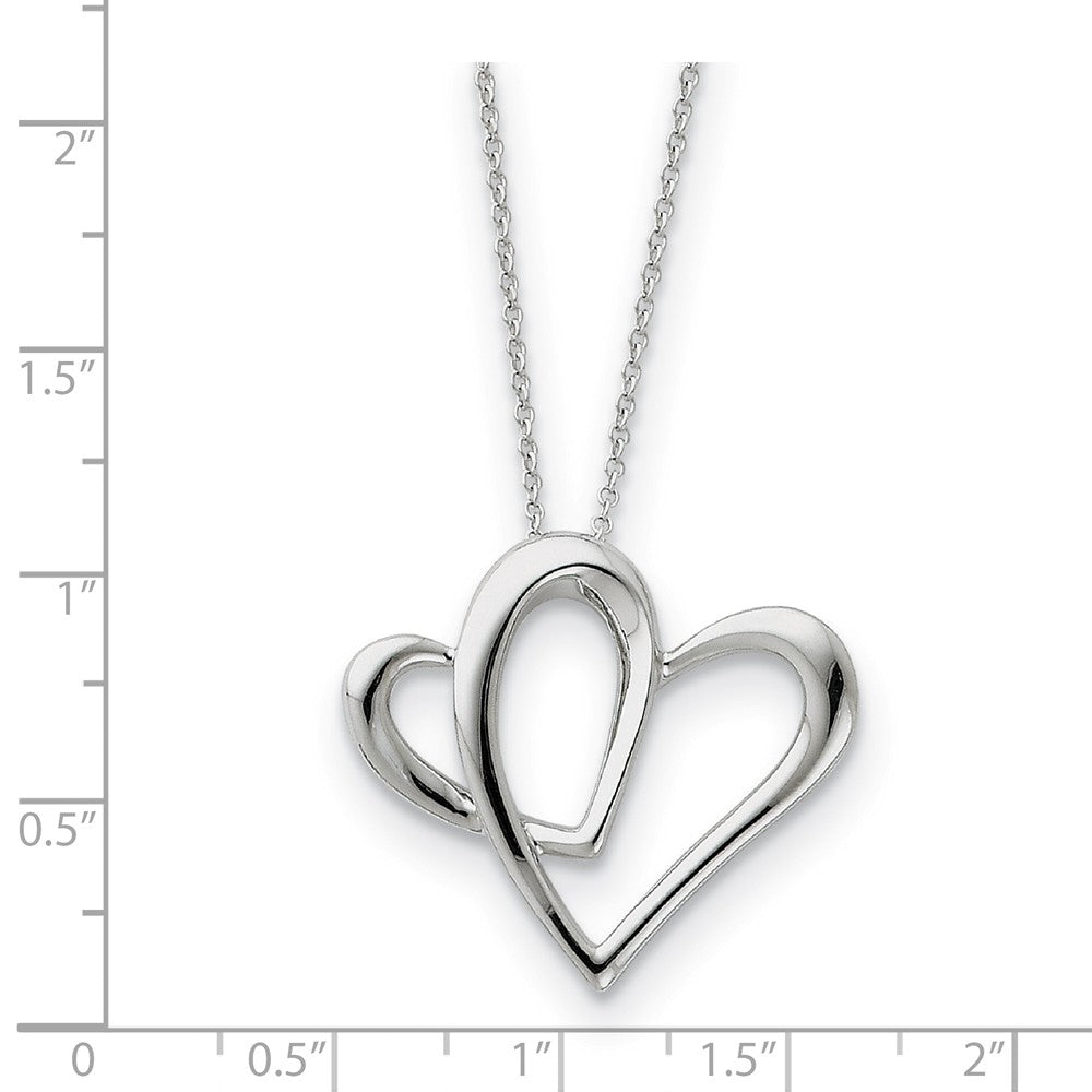 Alternate view of the Rhodium Sterling Silver Daughter, Always A Part of My Heart Necklace by The Black Bow Jewelry Co.