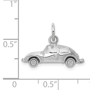 Alternate view of the 14k White Gold Polished Car Charm by The Black Bow Jewelry Co.