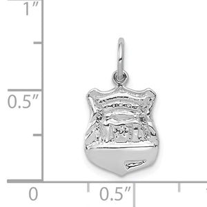 Alternate view of the 14k White Gold Police Badge Charm by The Black Bow Jewelry Co.