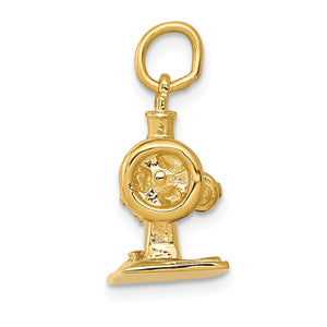 Alternate view of the 14k Yellow Gold 3D Antique Sewing Machine Charm by The Black Bow Jewelry Co.