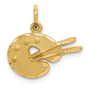 14k Yellow Gold Artist Palette Charm - The Black Bow Jewelry Co.