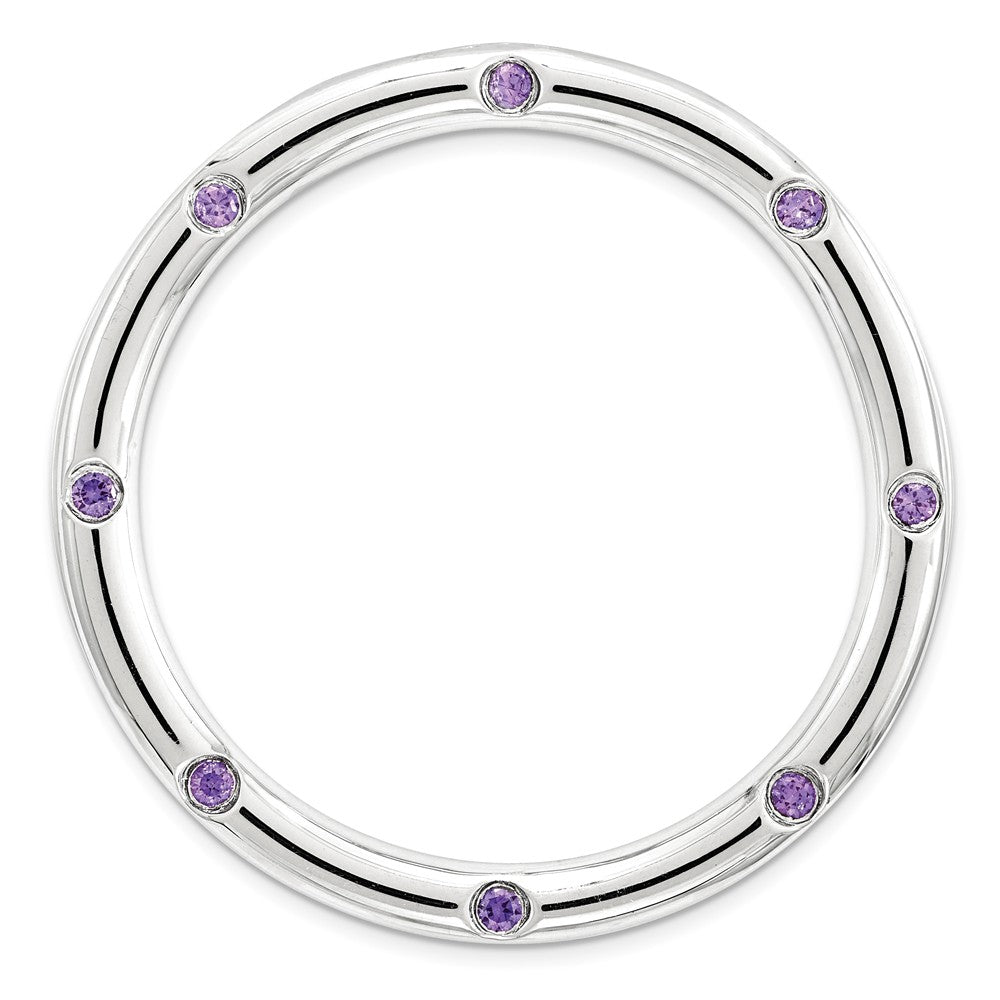 Sterling Silver & Amethyst Stackable Expressions Large Slide, 29mm