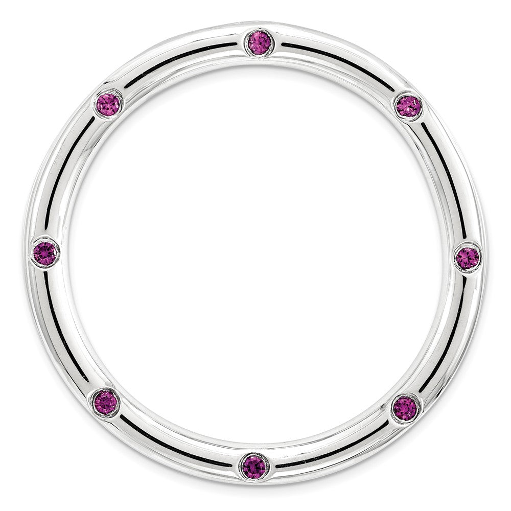 Sterling Silver & Rh. Garnet Stackable Expressions Large Slide, 29mm