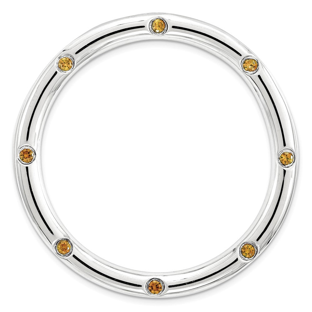 Sterling Silver & Citrine Stackable Expressions Large Slide, 29mm