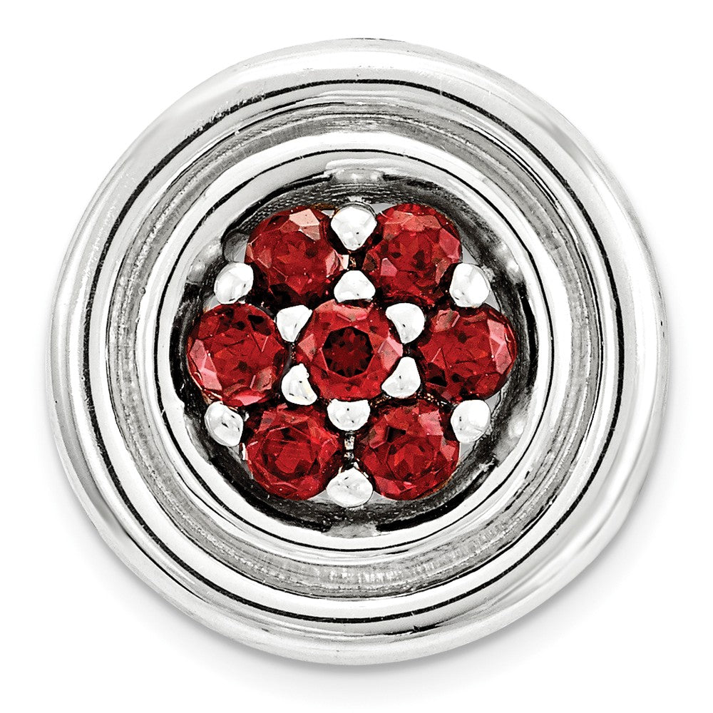 Sterling Silver & Garnet Stackable Small Cluster Slide, 12mm