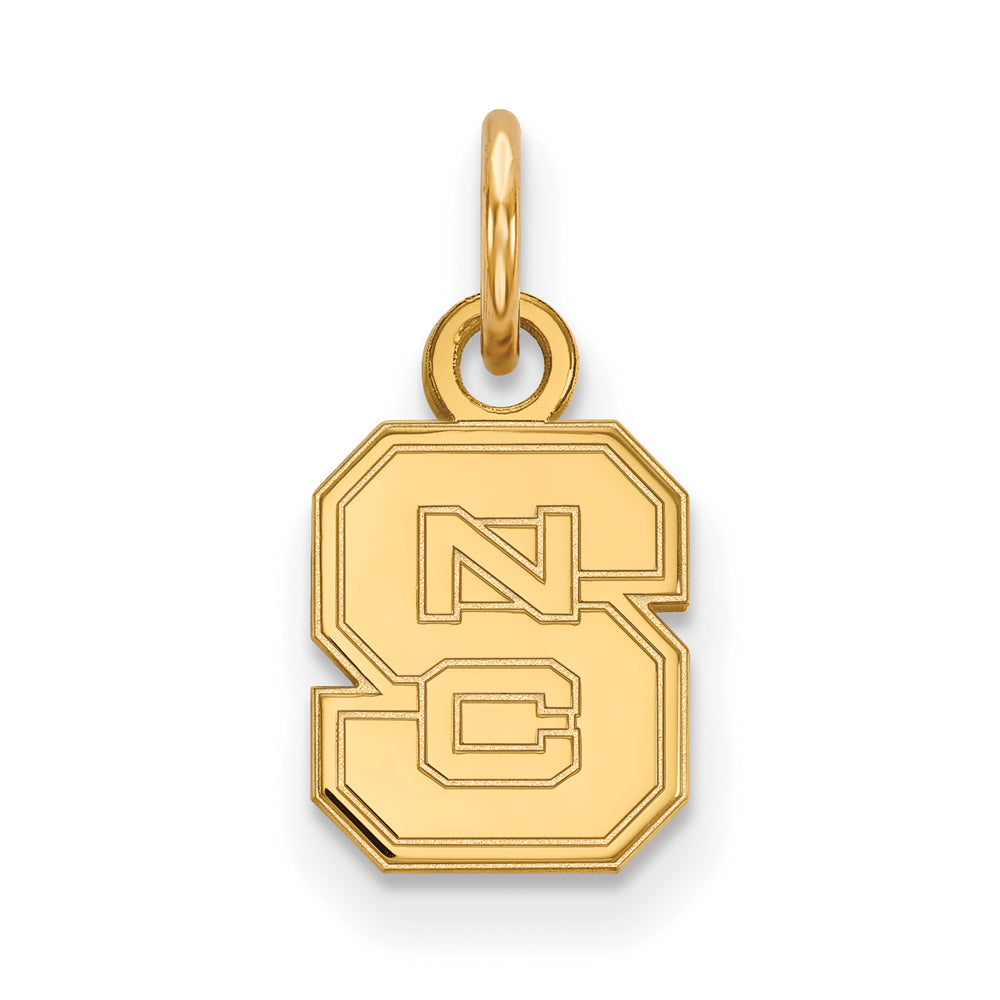 NCAA 14k Yellow Gold North Carolina XS Charm or Pendant, Item P14503 by The Black Bow Jewelry Co.