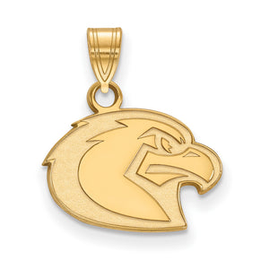 NCAA 14k Yellow Gold Marquette U Small Pendant - The Black Bow Jewelry Co.