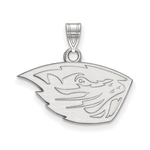 NCAA Sterling Silver Oregon State Small Pendant - The Black Bow Jewelry Co.