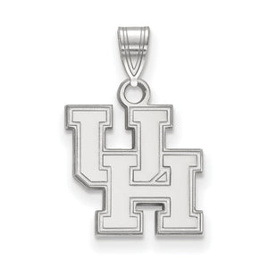 NCAA Sterling Silver U. of Houston Small Pendant - The Black Bow Jewelry Co.