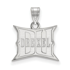 NCAA Sterling Silver Drexel U Small Pendant - The Black Bow Jewelry Co.