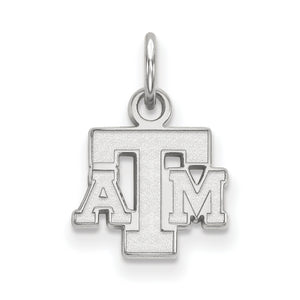 NCAA Sterling Silver Texas A&M U. XS Pendant - The Black Bow Jewelry Co.