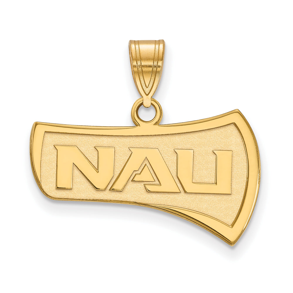 10k Yellow Gold Northern Arizona U. Large Pendant, Item P16123 by The Black Bow Jewelry Co.