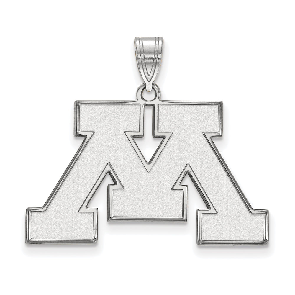 NCAA 14k White Gold U. of Minnesota Large Pendant, Item P16667 by The Black Bow Jewelry Co.