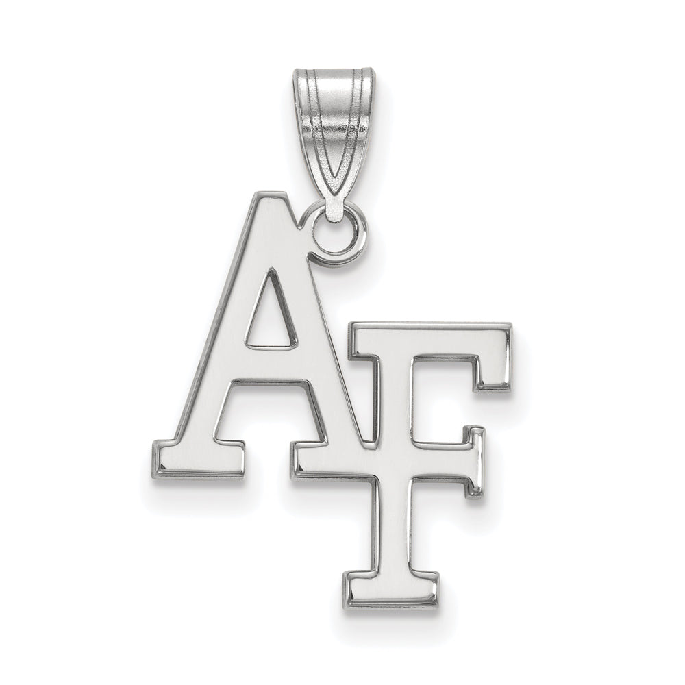 NCAA 14k White Gold Air force Academy Large Pendant, Item P16674 by The Black Bow Jewelry Co.