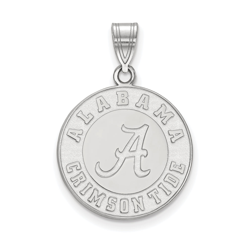 NCAA 14k White Gold U. of Alabama Large Pendant, Item P16815 by The Black Bow Jewelry Co.