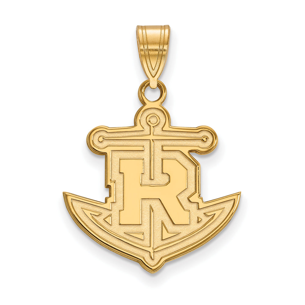 14k Yellow Gold Rollins College Large Pendant, Item P16928 by The Black Bow Jewelry Co.
