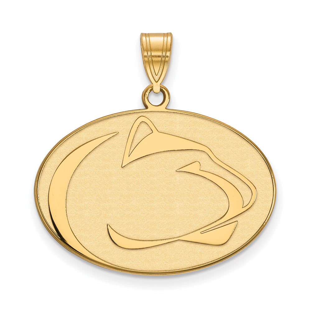 14k Yellow Gold Penn State Large Pendant, Item P17121 by The Black Bow Jewelry Co.