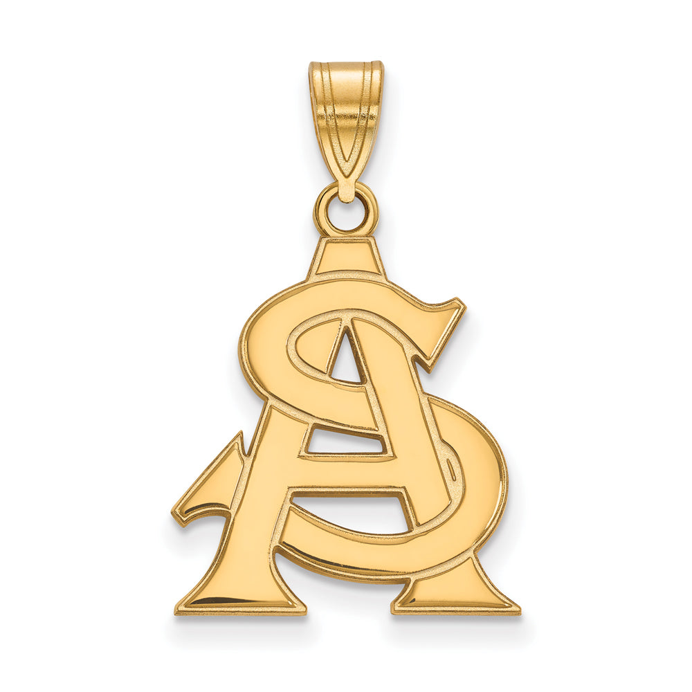 NCAA 14k Yellow Gold Arizona State Large Pendant, Item P17186 by The Black Bow Jewelry Co.