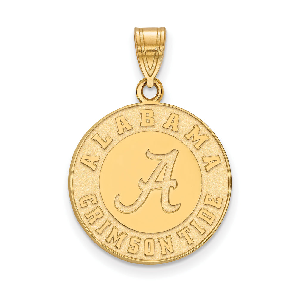 NCAA 14k Yellow Gold U. of Alabama Large Pendant, Item P17284 by The Black Bow Jewelry Co.