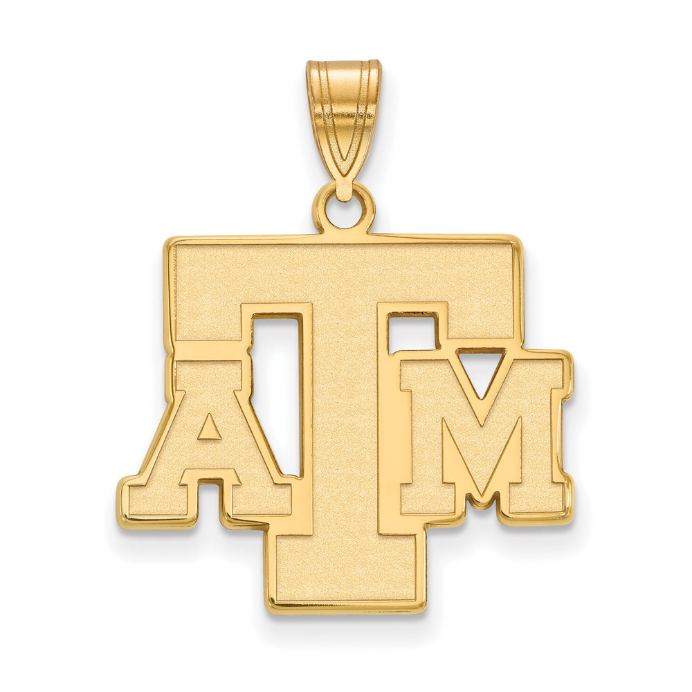 NCAA 14k Yellow Gold Texas A&M U. Large Pendant, Item P17307 by The Black Bow Jewelry Co.