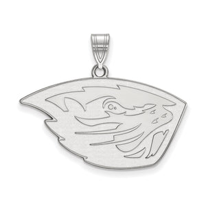 NCAA Sterling Silver Oregon State Large Pendant - The Black Bow Jewelry Co.