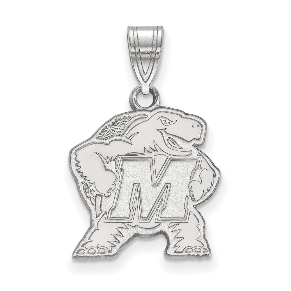 10k White Gold Maryland Medium Pendant, Item P18635 by The Black Bow Jewelry Co.