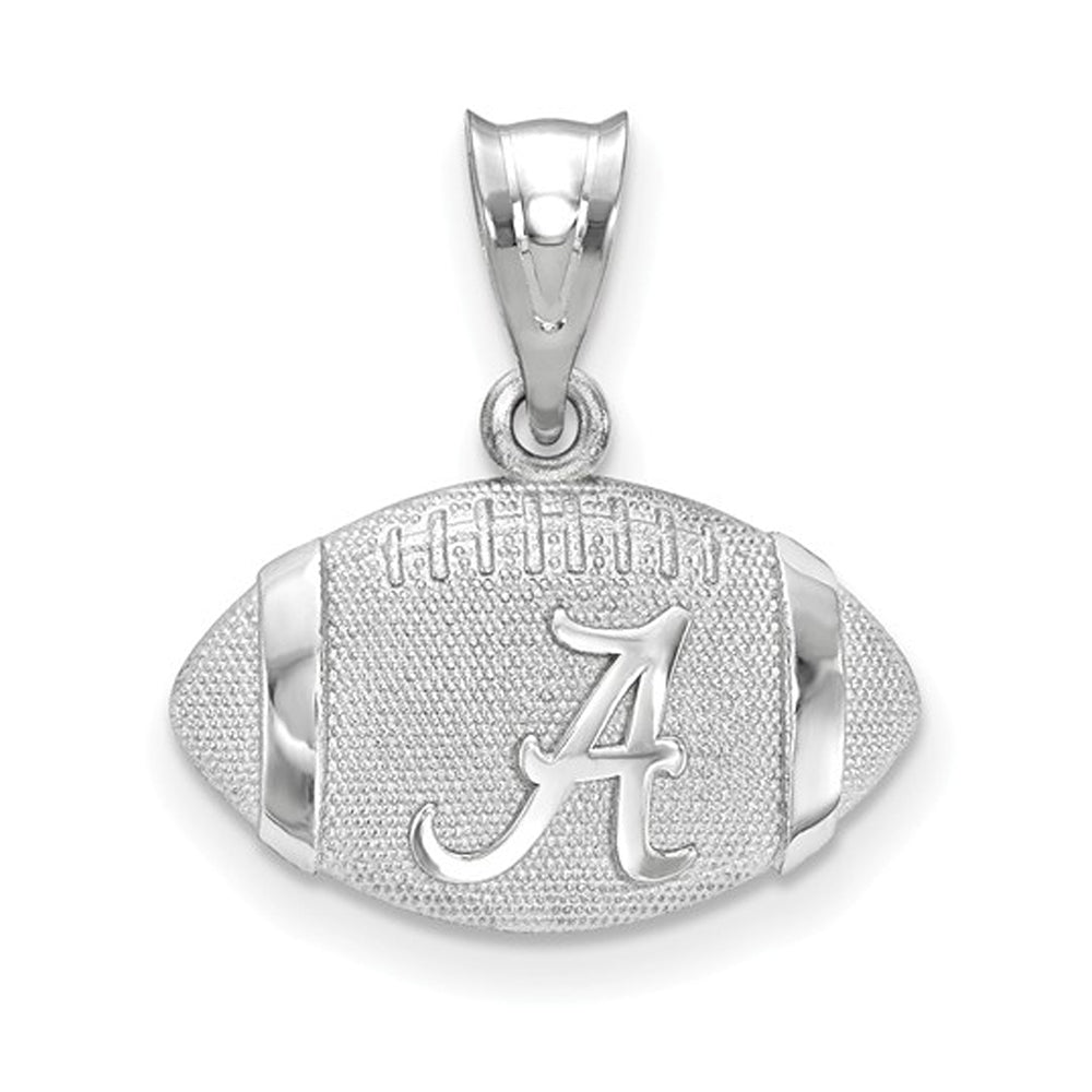 NCAA Sterling Silver The U. of Alabama 3D Football w Logo Pendant, Item P19686 by The Black Bow Jewelry Co.