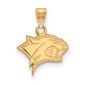 NCAA 10k Yellow Gold U. of New Hampshire Small Pendant - The Black Bow Jewelry Co.
