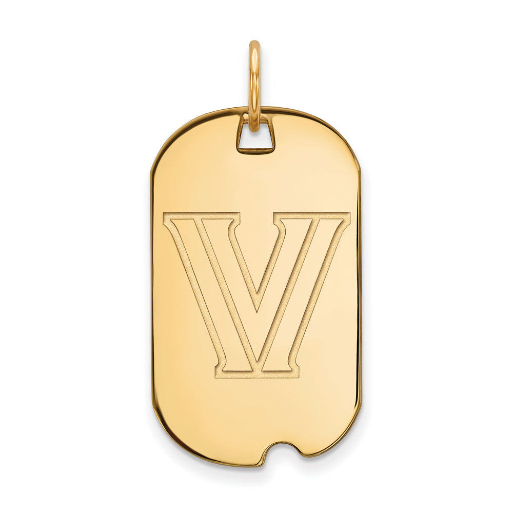 NCAA 10k Yellow Gold Villanova U. Dog Tag Pendant, Item P20152 by The Black Bow Jewelry Co.